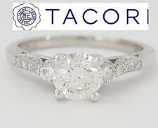 0.81 ct Simply TACORI Platinum Round Brilliant Cut Diamond Engagement Ring
