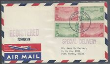 #C21-C22 FDC airmail label with Washington DC cancel, 20 & 50 cent Trans-Pacific