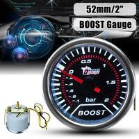 2'' 52MM LED Universel Gauge Turbo Boost Pression Manomètre Vacuum Gradué Auto