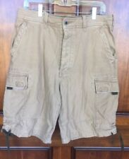 Abercrombie & Fitch Men's Beige Heavy Cotton Cargo Chino Shorts Sz 32