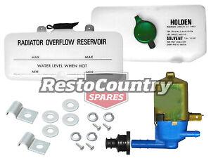 Holden Radiator Overflow Bottle + Washer + Pump + Fitting Kit HQ HJ HX HZ tank