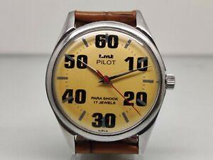 Vintage HMT Pilot Hand Winding machanical Men's Wrist Watch Working Condition