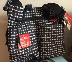Skip Hop Spark Diaper Tote Out and About Bag Changing Pad Stroller Clips Baby