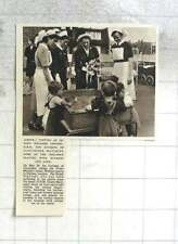 1955 Duchess Of Gloucester Visiting Infant Welfare Centre Violet Melted Chelsea