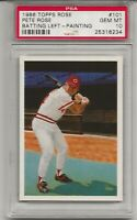 1986 TOPPS ROSE #101 PETE ROSE, PSA 10 GEM MINT, CINCINNATI REDS, BATTING LEFT