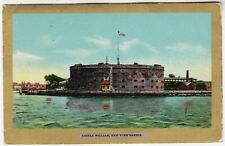 "NEW YORK - Castle William - Ullman's ""Gold Border"" #3024 - 1908 used postcard"