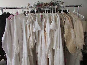Antique Edwardian Victorian clothes lot women, children 30 pcs AS IS LOT