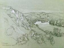 1923 Château Gaillard - Les Andelys  France  Drawing by Marjory Beadon