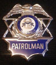 Georgia Patrolman Police Badge ~ Blackinton Hallmark ~ Shipping Included