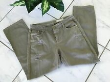 Sass & Bide Womens Jeans - PRELOVED - PLAYMAN Khaki Green Distressed Size 28
