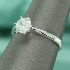 1ct Round Cut Solitaire Engagement Wedding Promise Ring 14k White Gold Size 7