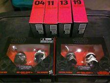 Star Wars Black Series Titanium Helmet Vehicle Lot x6 Black Leader Poe Kylo New