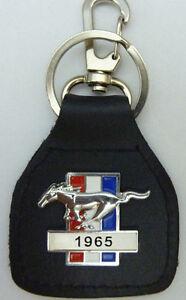 Blue Oval Pony 1965 Genuine leather key fob.  C031001FY