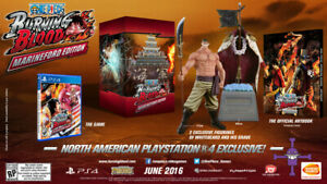 One Piece Burning Blood *Marineford Edition + Collector's Package* PS4 NEW!