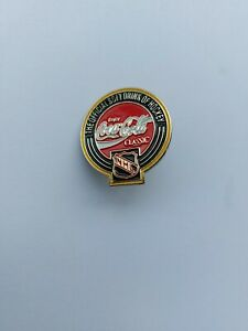 COCA COLA & NHL Hockey Metal Enameled Lapel Hat Pin