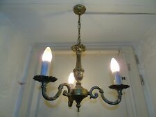 French chandelier 3 lights ornately  bronze exquisite  vintage