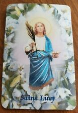 Saint Lucy relic holy card