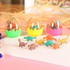1 Set Novelty  Dinosaur Eraser Mini Cute Rubber Kawaii Students Stationery New
