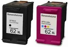 Refilled HP 62XL Black And HP 62 XL Colour Ink Cartridges Double Pack