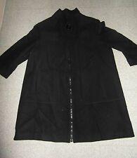 Taille 40 magnifique manteau paletot noir LA REDOUTE  EXCELLENT ETAT