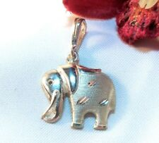 Elefant Anhänger Silber Charms Kettenanhänger Glücksbringer / bv 763