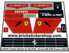 Replica Pre-Cut Sticker for Lego®Racers Set 8145 - Ferrari 599 GTB Fiorano (2007