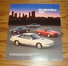 Original 1987 Subaru Full Line Sales Brochure 87 Justy BRAT XT Coupe Sedan