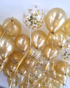 Gold Balloons Confetti wedding bride engaged ceiling oh baby birthday party deco