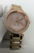 Michael Kors Parker Crystals 39mm Two Tone Acetate Women's Watch MK6530 SD9