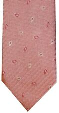 NEW BRIONI LIGHT & DARK MAUVE PINK HERRINGBONE PAISLEY 100% SILK NECK TIE