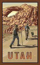 "Northwest Art Mall Utah Hikers Artwork by Paul B. Leighton, 11x17"", - H15 22AM"