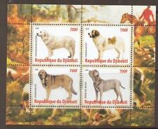 DJIBOUTI 2008 DOGS  M/SHEETS (NO1) MNH