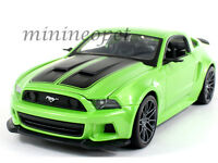 MAISTO 31506 2014 14 FORD MUSTANG STREET RACER 1/24 DIECAST LIGHT GREEN