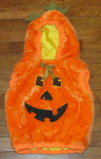 Baby Halloween Costume Orange Pumpkin Size 12 to 24 Months 12-24 mo Plush Lined