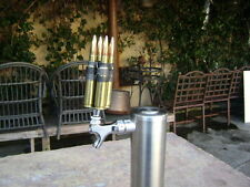 4 50 cal bmg BULLET kegerator tap keg handle  (THE ORIGINAL) 20MM TAP HANDLES