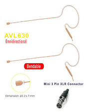 2 pieces Tan Beige Headset Mic Single Ear Microphone for AKG Wireless WMS mini