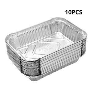 Aluminum Foil Tin Tray Disposable Roasting Takeaway Oven Baking 10~100x #E18