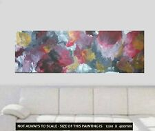 XL 1.2mt Red Gold Grey Blk Modern Painted Abstract Canvas Painting Original Art