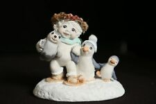 Dreamsicles Snowbound Cherub Angels with Penguins Figure 1991