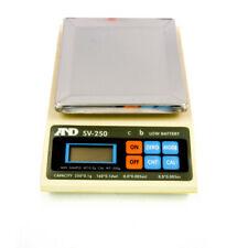 "A&D Weighing SV-250 Portable Balance 250g x 0.1g 4"" x 4"" Pan"