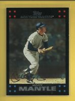 Mickey Mantle 2007 Topps Series 1 Card # 7 New York Yankees Baseball MLB HOF