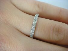 14K WHITE GOLD THIN DIAMOND PAVE SET WEDDING BAND 0.20 CT T.W. 2.5 MM WIDE