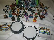 Huge Nintendo WII LOT OF 29 SKYLANDERS + Games + Portals + Bag Swap Giants
