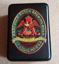 Vintage Anheuser Busch Budweiser Sealed Playing Cards In Original Tin