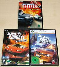 3 PC Giochi Set-allarme per Cobra 11-NITRO-Crash Time-il gruppo ci