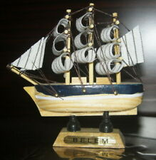 4x Hot Sale ! VINTAGE Nautical Wooden Ship Sailboat Boat Home Model Decor 3.5""