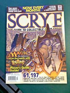 march 2003 SCRYE #57 guide to ccgs Magic: Legions yu-gi-oh! dragonball z