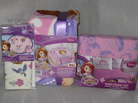NEW DISNEY PRINCESS SOFIA THE FIRST 5 PC TWIN BED SET BLANKET SHEET SET DECALS