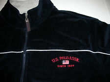 US Polo Assn Soft Navy Blue Zip Up Mens Jacket Medium M Vintage Spell Out