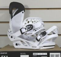 New 2019 Burton Lexa Snowboard Bindings Fade To White Size Small (US 4-6)